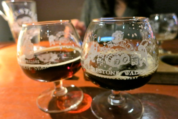 Tasters at the Firestone Walker Taproom in Paso Robles